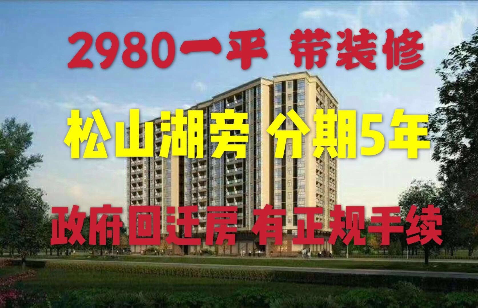 东坑小产权《松湖一号》2980/平带豪华装修镇府安置房