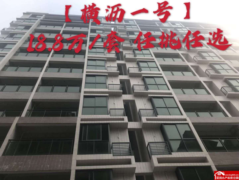 横沥小产权房统建楼【横沥一号】户型方正户户大阳台采光通透