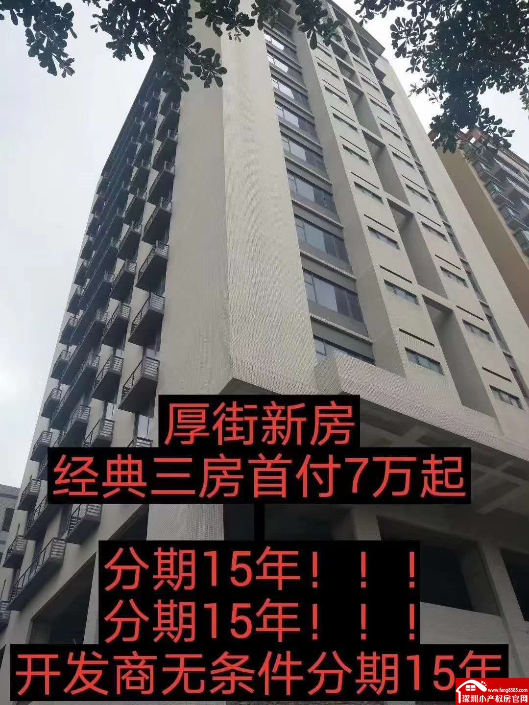 厚街小产权房统建楼【滨海一号】分期十五年开发商直接贷款