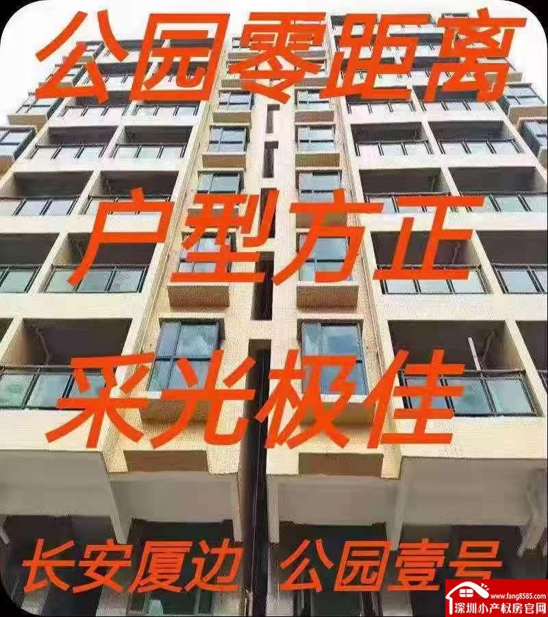 长安厦边原始户型物业【公园壹号】一梯四户