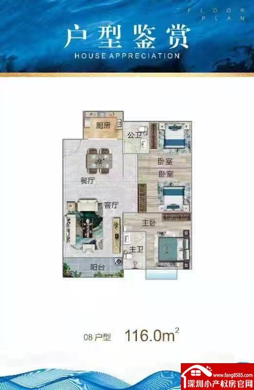 惠州博罗小产权统建楼《园洲一号》四栋江边大洋房户户超大阳台。